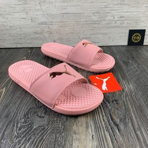 Puma Slides l Rose Gold l 9